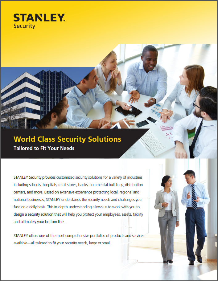 Security Info and Literature - STANLEY Security Products and