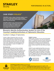 Case Study: Southern College of Optometry Implements EyeLock