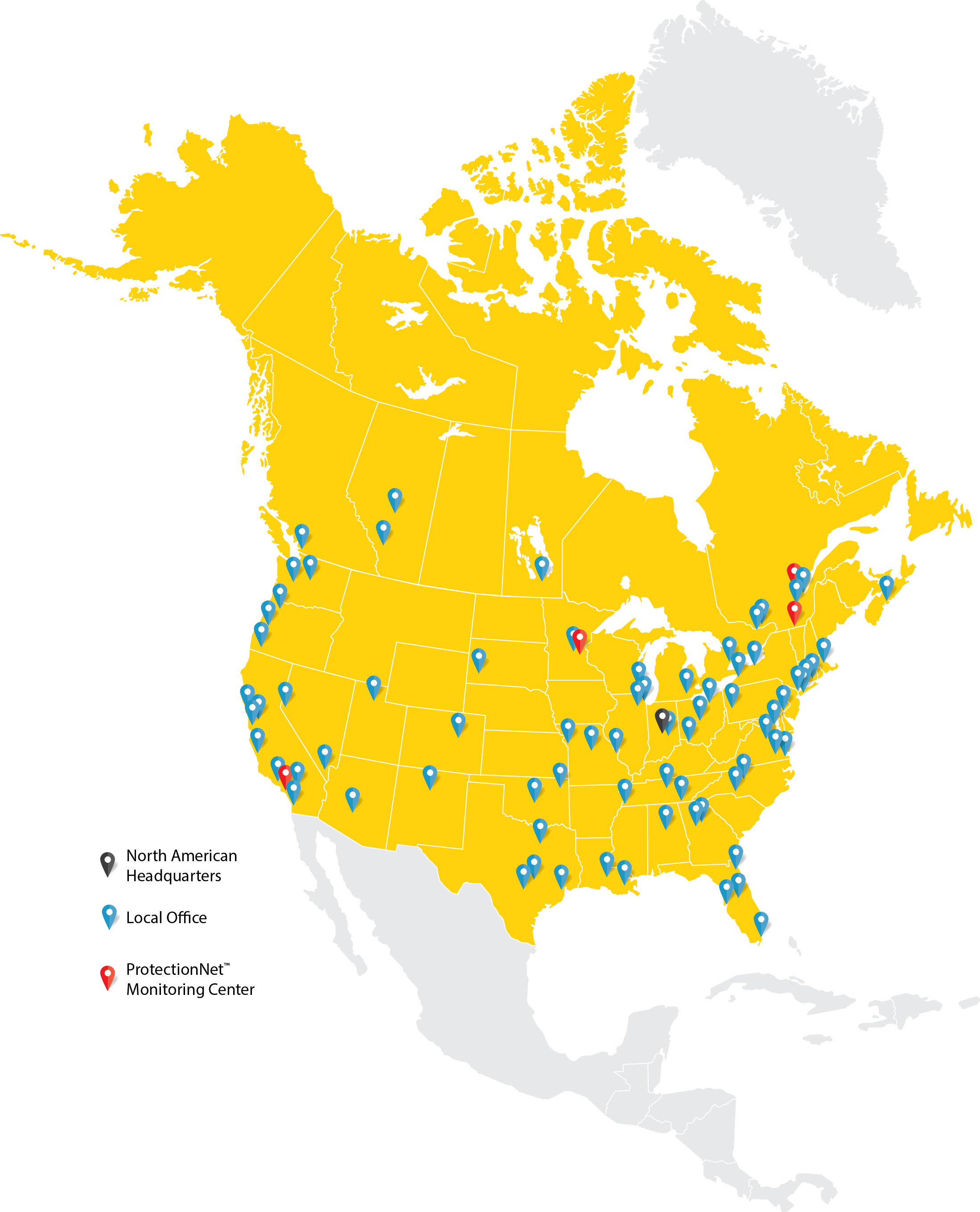 STANLEY North America Locations Map