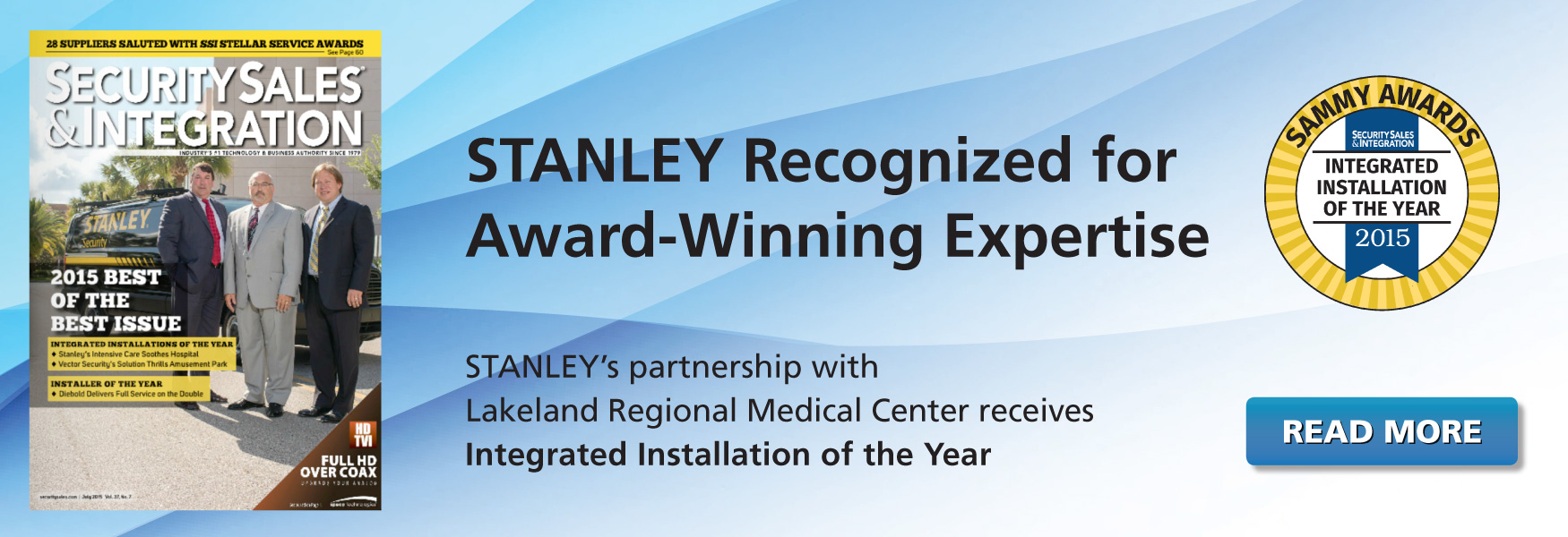 STANLEY Wins Award for 2015 Integrated Installation of the Year