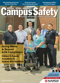 Edinboro University goes above and  beyond ADA Compliance with STANLEY Security | Campus Safety Magazine, October 2014