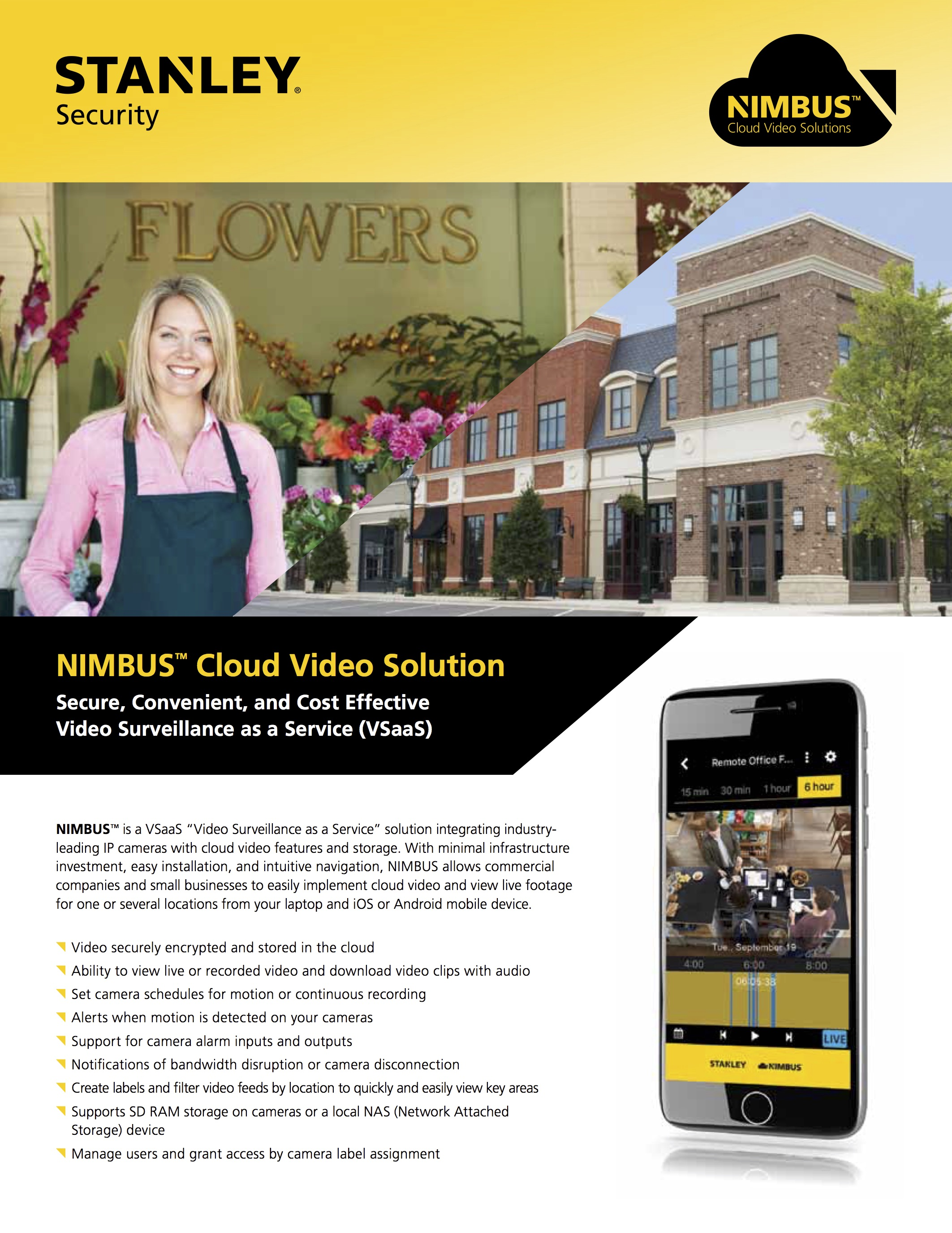 Cloud Video Solutions for Small Businesses - STANLEY NIMBUS™