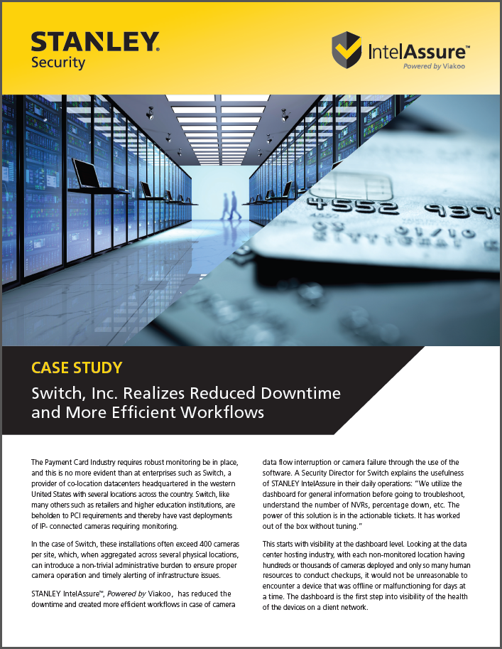 Case Study: Switch Inc. Realizes Reduced Downtime and More Efficient Workflows