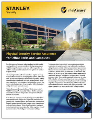 STANLEY IntelAssure for Office Parks and Campuses