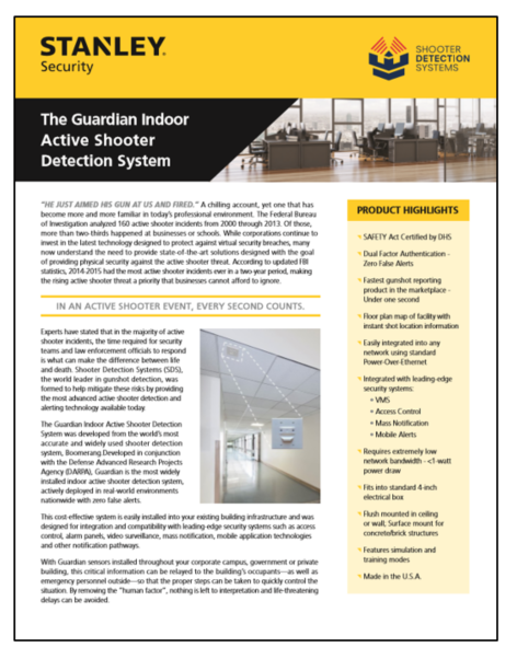 Informational Flier - Indoor Active Shooter Detection