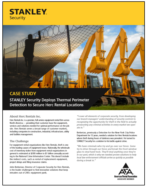 STANLEY Expert Thermal Perimeter Detection Systems