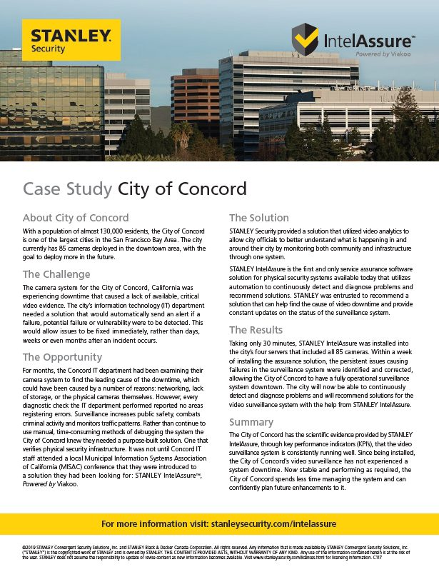City of Concord Case Study
