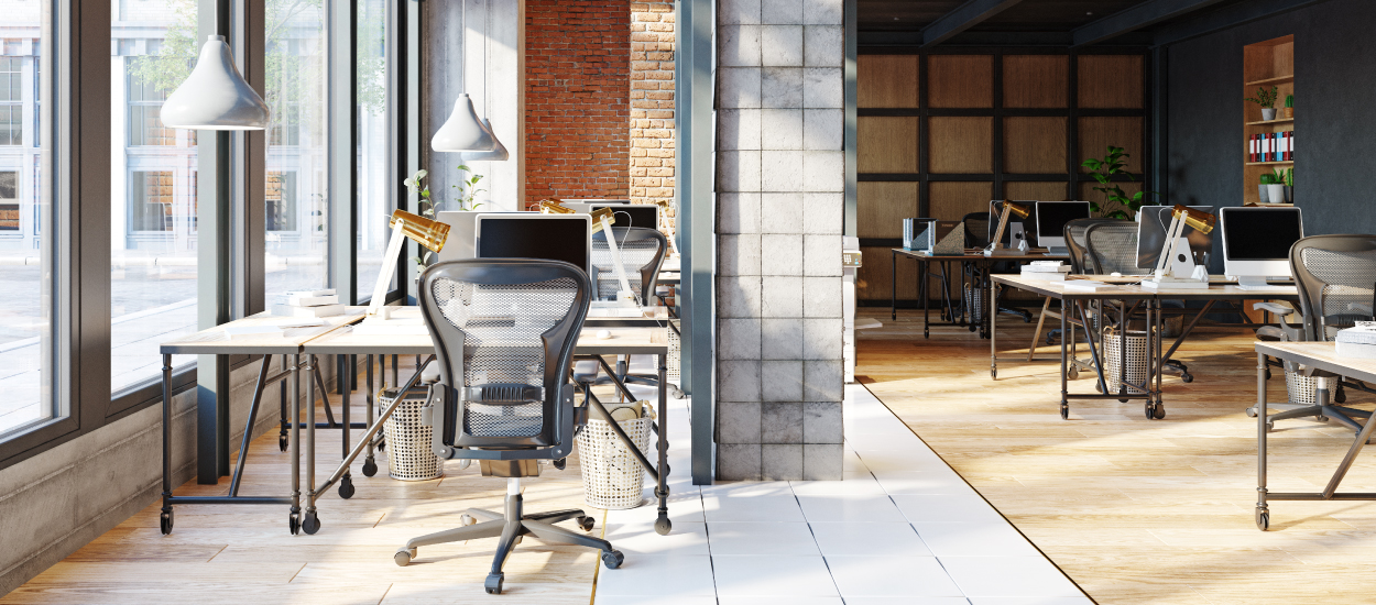 Return to work business space